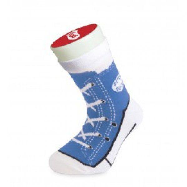 Bláznivé ponožky - basket-modrá