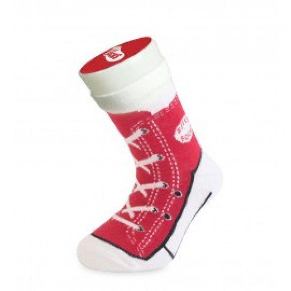 Bláznivé ponožky basket červená