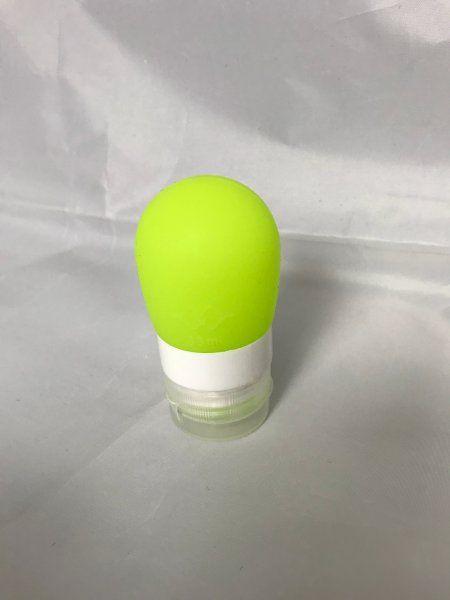 Cestovní silikonová lahvička na tekutiny - Obsah: 60 ml - zelená