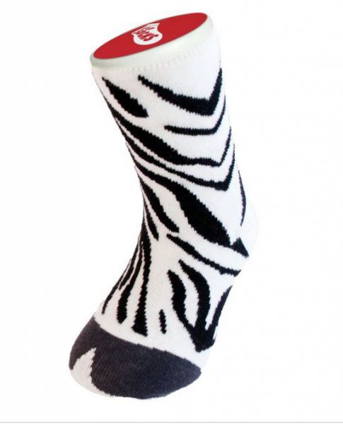 dětské bláznivé ponožky zebra