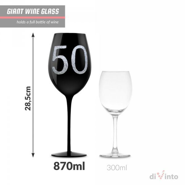 diVinto Slavnostní obří sklenice na víno – 50