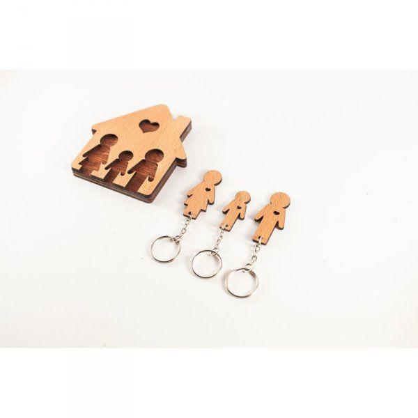 Domeček na klíče - Rodinka (3 osoby) - Dcera