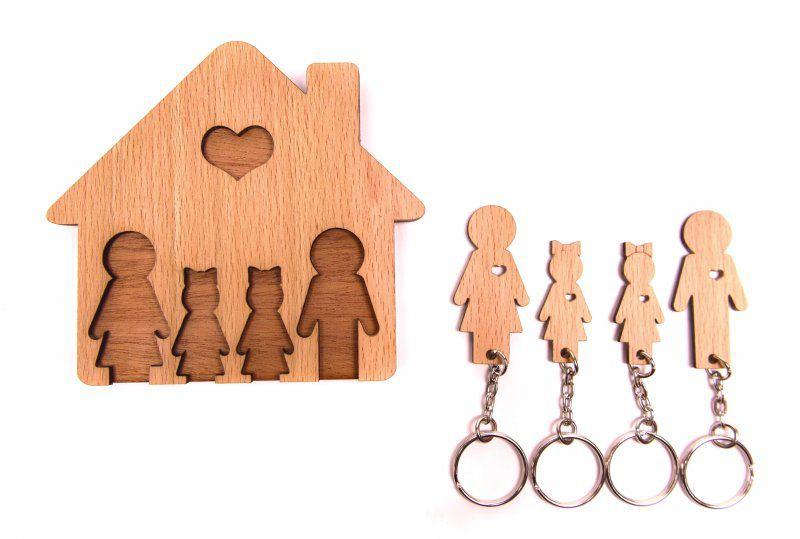 Domeček na klíče - Rodinka (4 osoby) - Dvě dcery