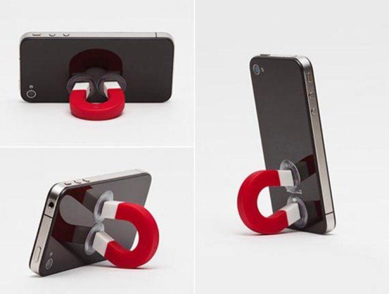 Držák telefonu magnet - červená