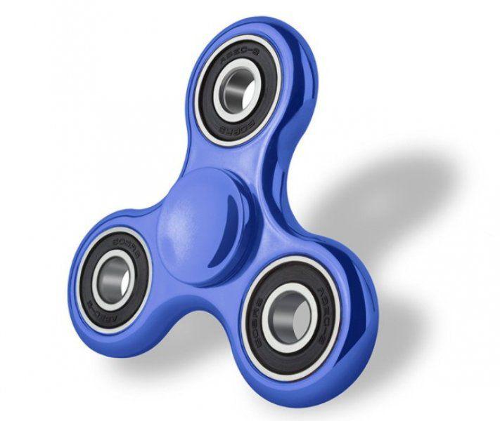 Fidget Spinner s metalickou barvou - Modrá