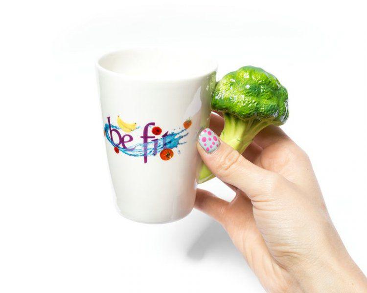 Hrnek buď FIT  – Hrnek buď FIT – brokolice