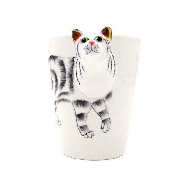 Hrnek s 3D zvířátkem - kočka