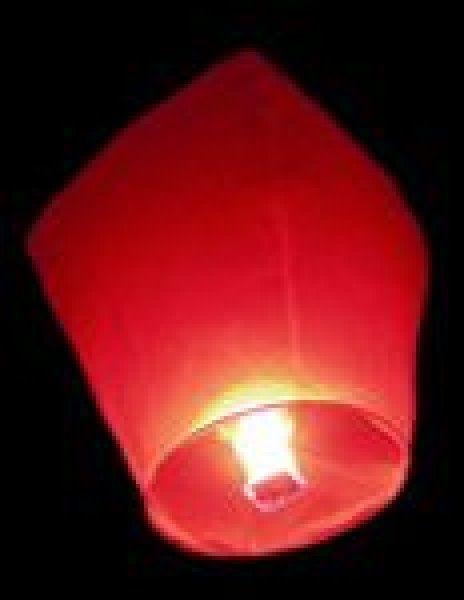 Lampiony přání - 10ti pack - Červené lampiony