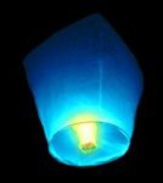 Lampiony přání - 10ti pack - Modré lampiony