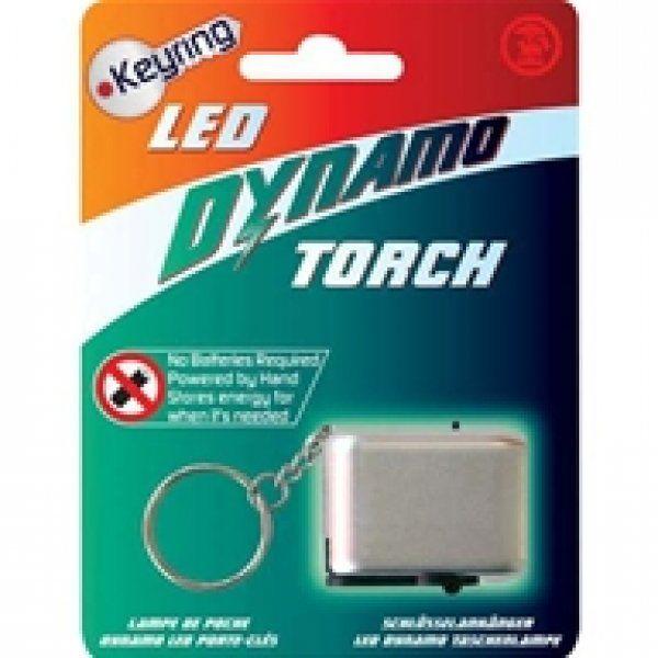 LED klíčenka na dynamo pohon - červená