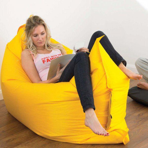 Nafukovací vak Lazy bag dvouvrstvý - žlutý