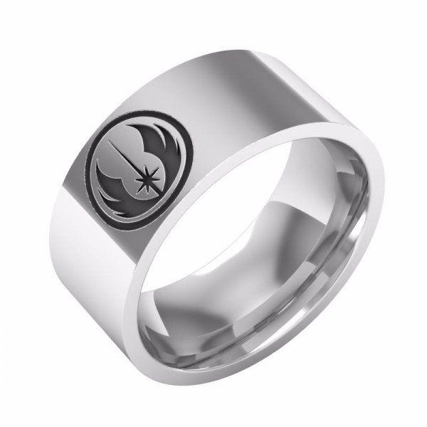 Ocelový prsten Star Wars - Jedi - Velikost: 9