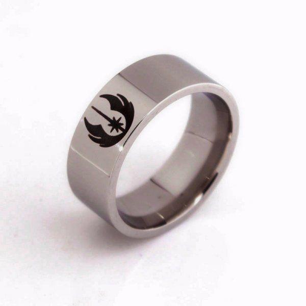Ocelový prsten Star Wars - Jedi - Velikost: 10