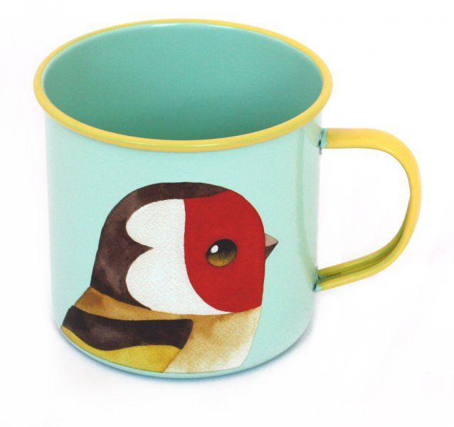 Plecháček - Kreslený ptáček Matt Sewell - Stehlík obecný