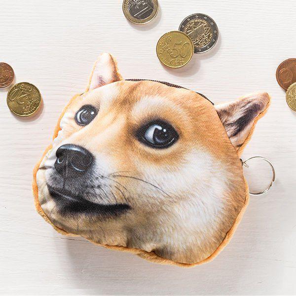 Psí peněženka na drobné pes zrzavý