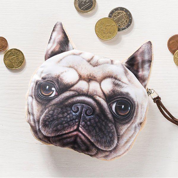 Psí peněženka na drobné buldoček