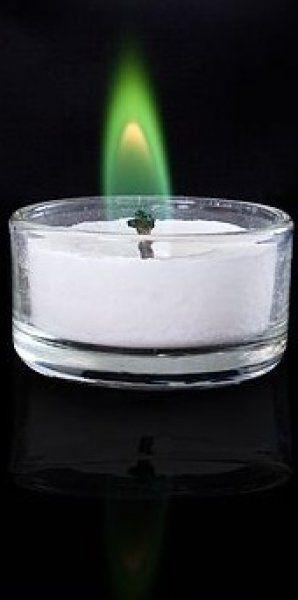 Romantické čajové svíčky - Zelená
