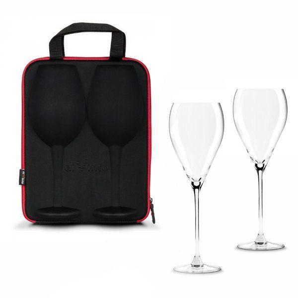 Slavnostní obří sklenice na víno - 2ks v dárkovém pouzdu - Krystal