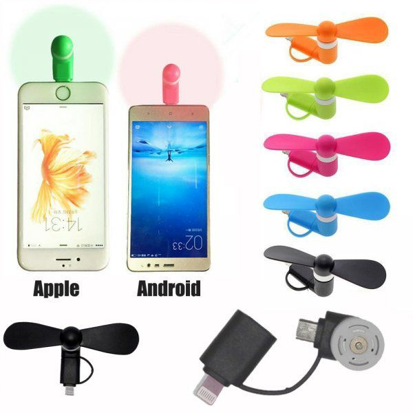 Větráček pro smartphone Android a Apple adaptér