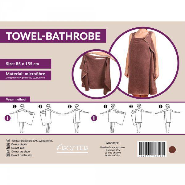 Županový ručník - hnědý