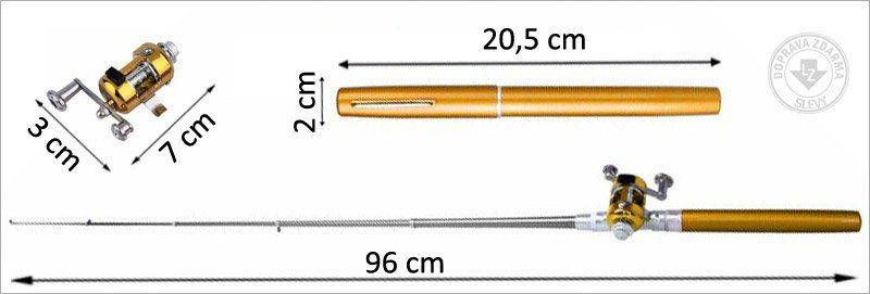Mini rybářský prut s navijákem - pero