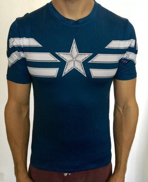 Sportovní tričko - Captain America WINTER SOLDIER - modrá - Velikost XL