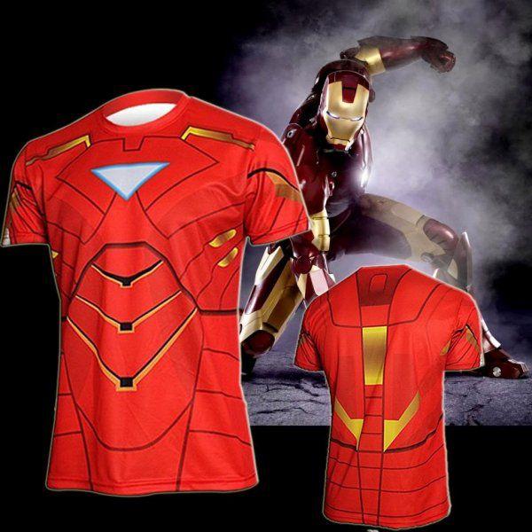 Sportovní tričko - Iron Man - Velikost L