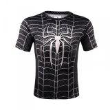 Sportovní tričko - Spiderman SYMBIOTE - černá - Velikost L