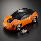 PC myš auto bezdrátová - oranžová