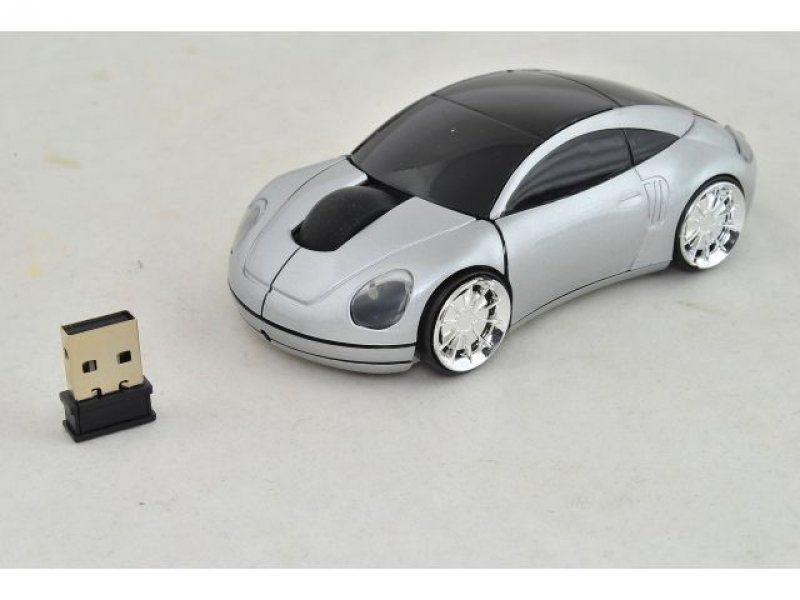 PC myš auto bezdrátová - stříbrná