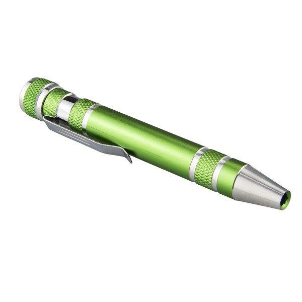 Šroubovák v tužce - zelená