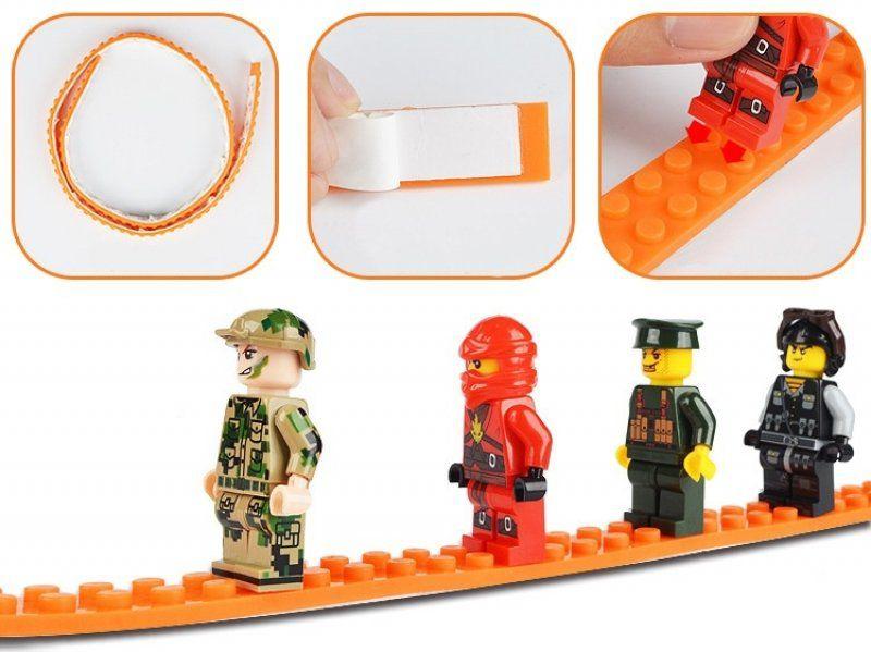 Nalepovací lego pásek - Oranžová
