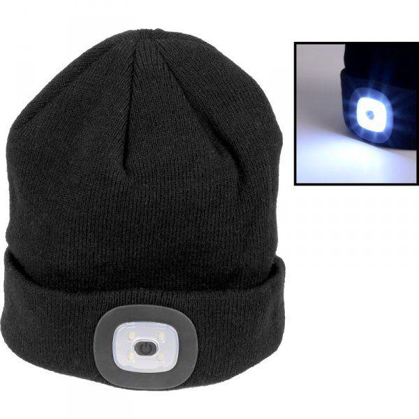 Zimní čepice se svítilnou