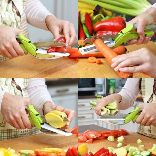 Multifunkční nůžky do kuchyně 6v1 clever cutter