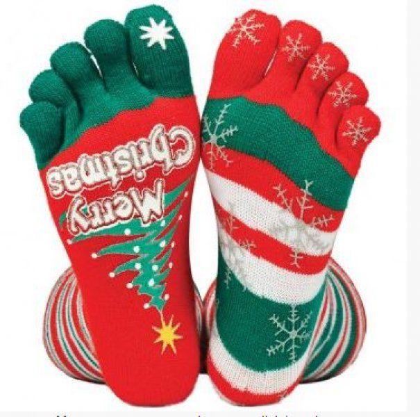 Vánoční prstové ponožky - Sněhové vločky