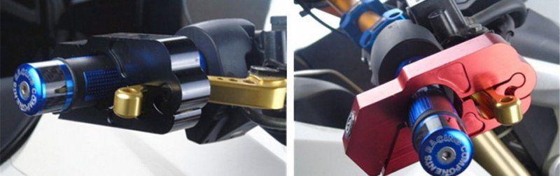 Zámek na řidítka motorky nebo kola - červená