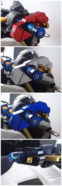 Zámek na řidítka motorky nebo kola - zlatá