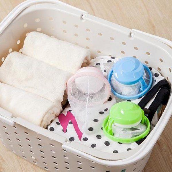 Lapač vlasů a chlupů do pračky - Modrá