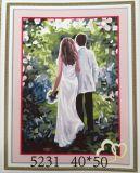 Malování podle čísel na plátno - zamilovaný pár