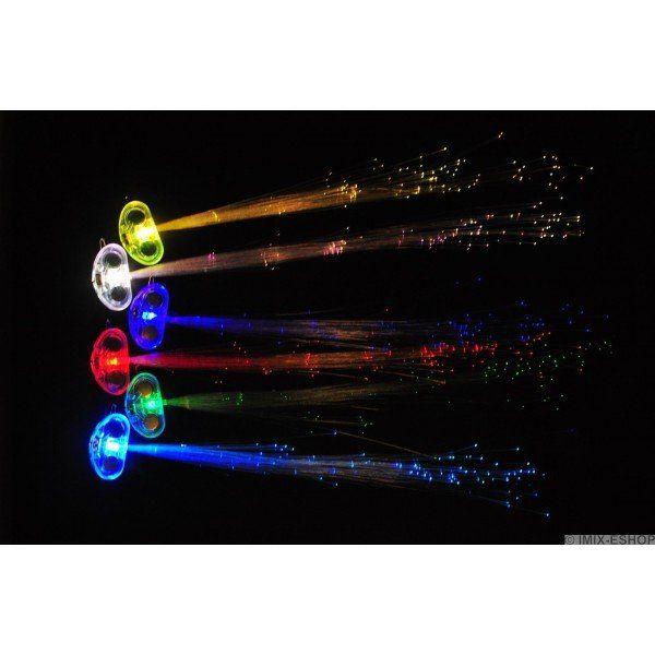 LED dekorace do vlasů