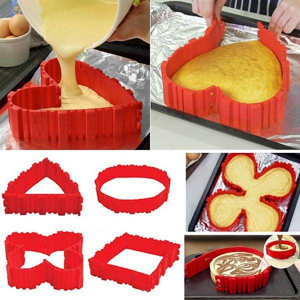 Magická tvarovací silikonová forma na dorty