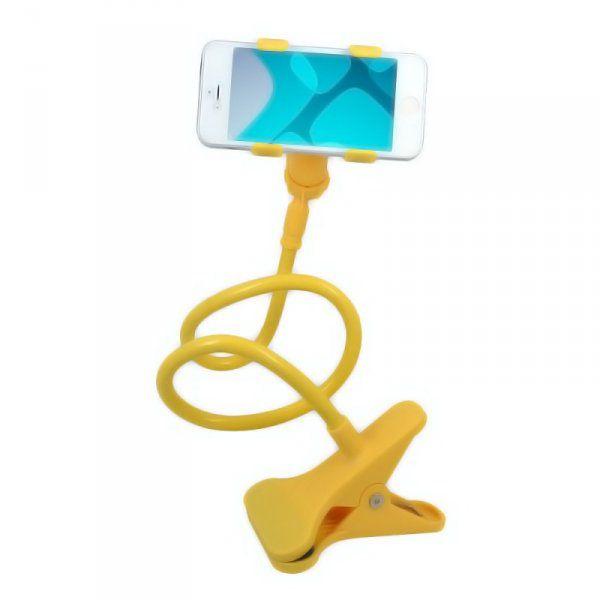 Připínací držák na telefon - Žlutá
