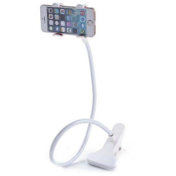 Připínací držák na telefon - Bílá