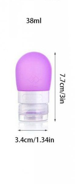 Cestovní silikonová lahvička na tekutiny - Růžová - 38 ml