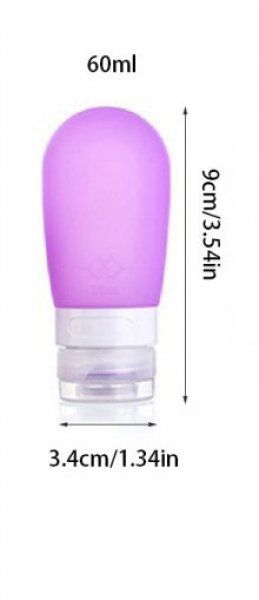 Cestovní silikonová lahvička na tekutiny - Modrá - 60 ml