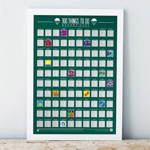 Stírací plakát 100 nejbláznivějších, nejvíce vzrušujících věcí! – Bucket list