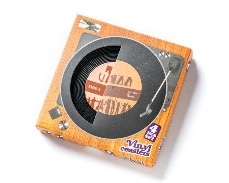 Vinylové podtácky - sada 4 ks