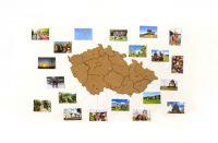 Samolepící korková mapa Moje Česko