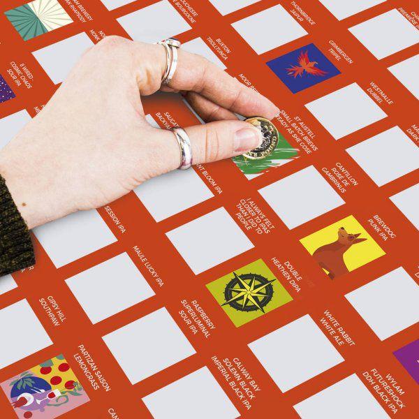Stírací plakát 100 nejlepších pivních speciálů – Bucket list