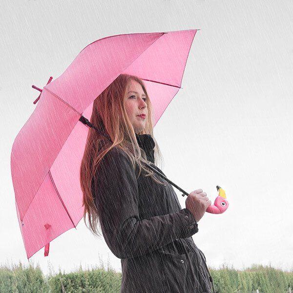 Deštník na Noze Plameňák